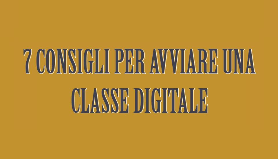 avviare una classe digitale