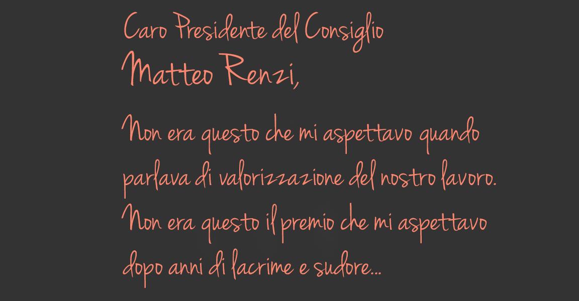 lettera di un insegnante a Renzi