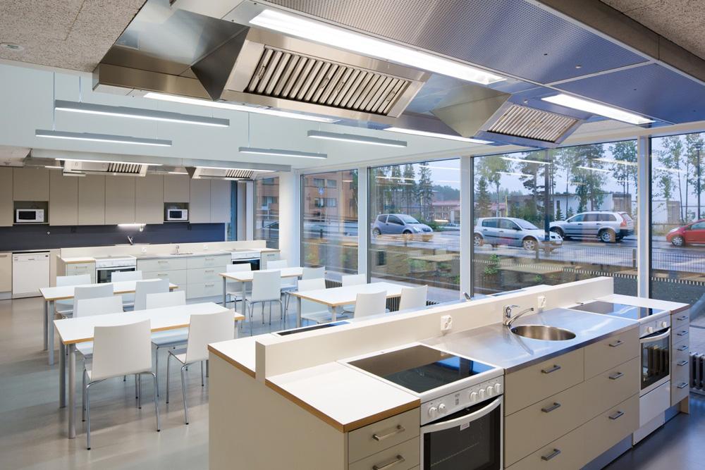 Saunalahti school lunchroom
