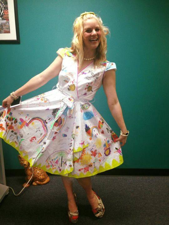 maestra vestito colorato