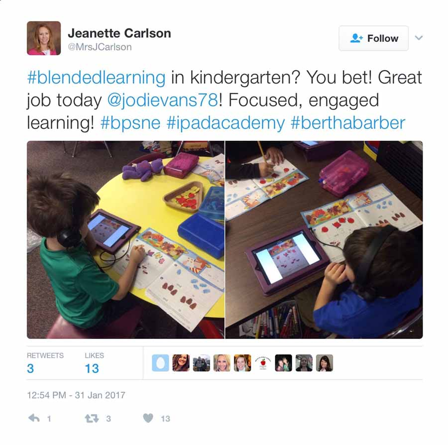 blended learning tweet