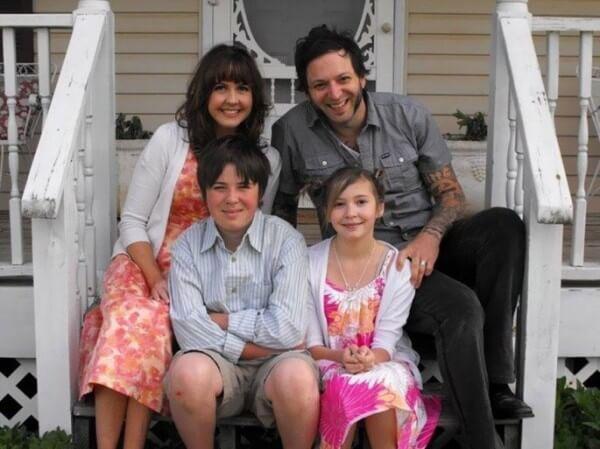 famiglia in lutto
