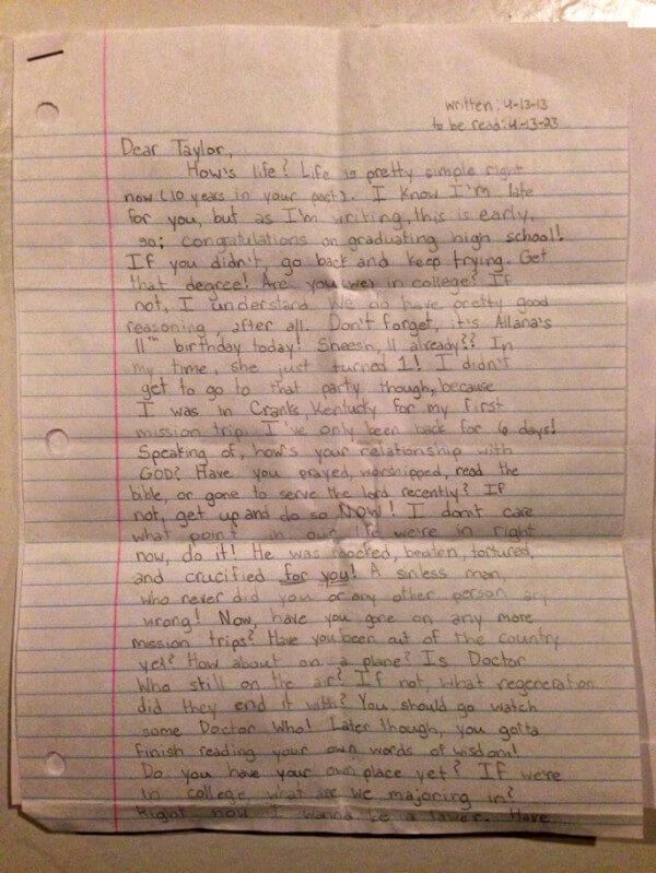 lettera taylor