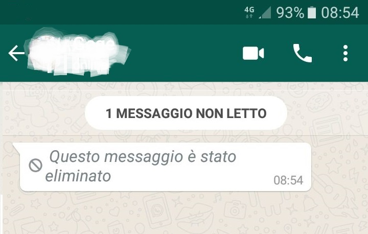 professoressa su whatsapp