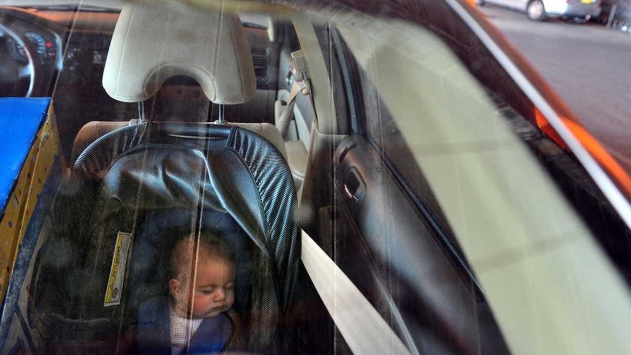 figlio in auto