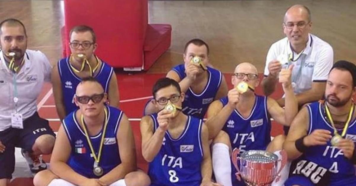 nazionale italiana di basket con la sindrome di down