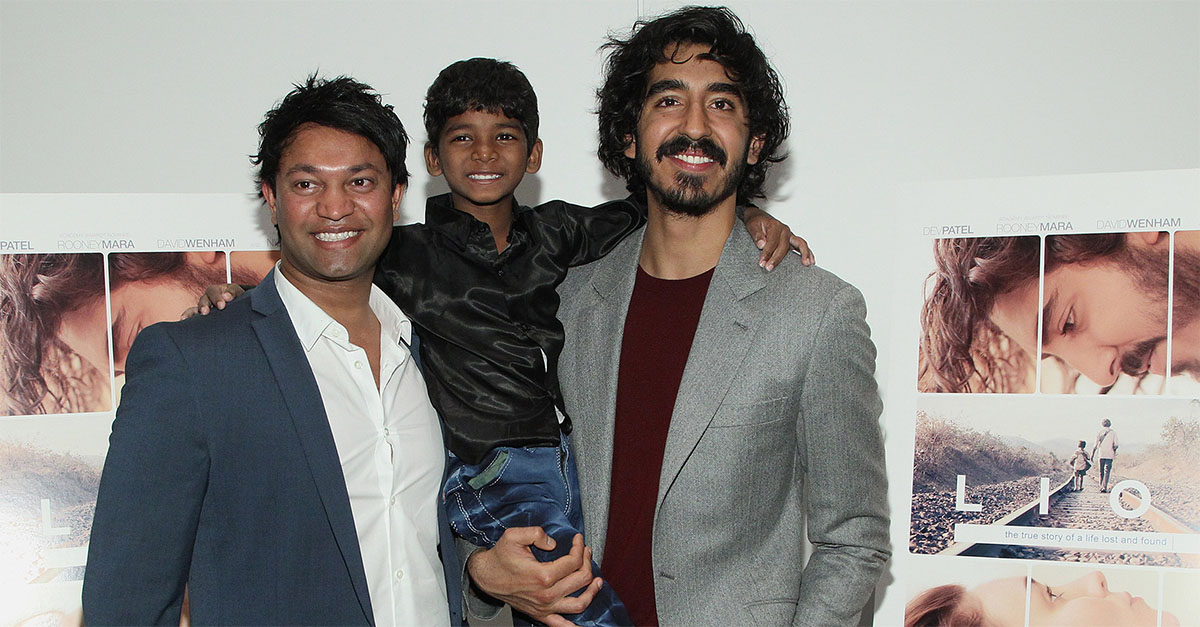 Saroo Brierley, Sunny Pawar, Dev Patel