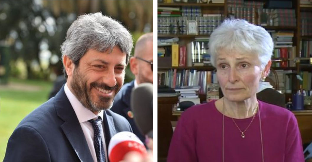 Roberto Fico alla Prof Sospesa a Palermo