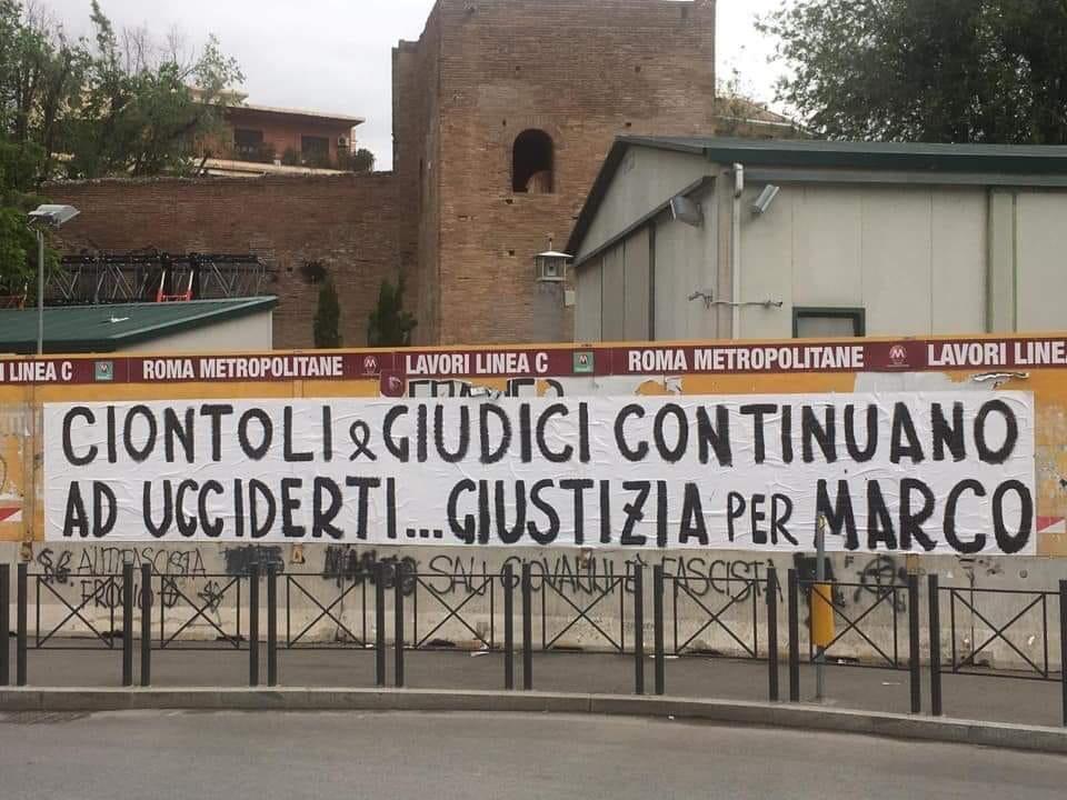 Striscione per Marco Vannini