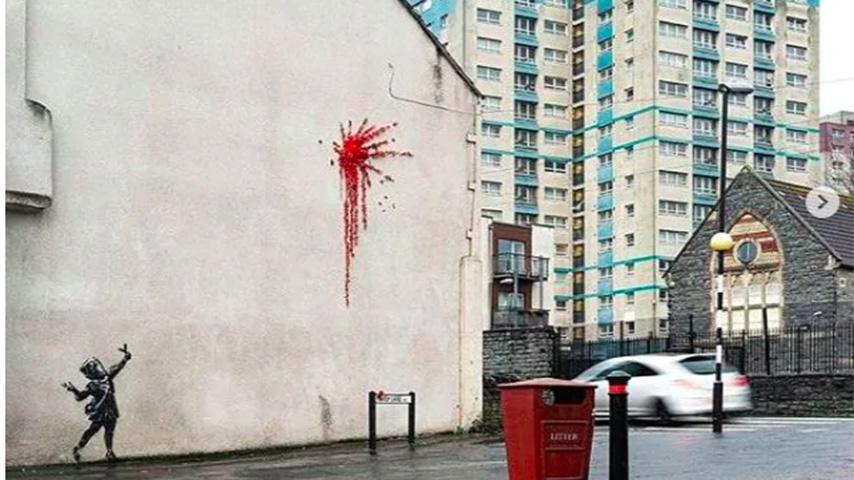 l'opera di banksy per san valentino