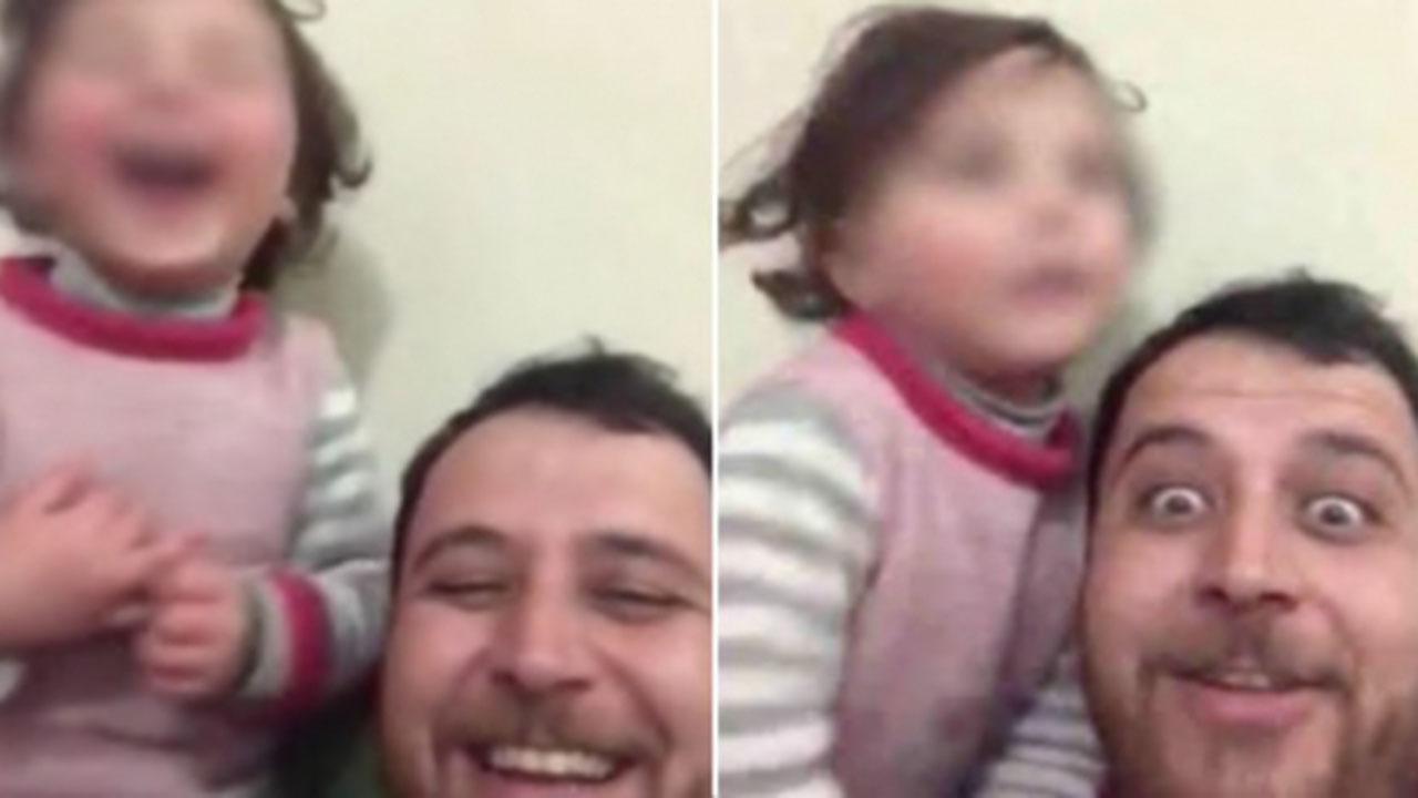 bimba siriana con papà