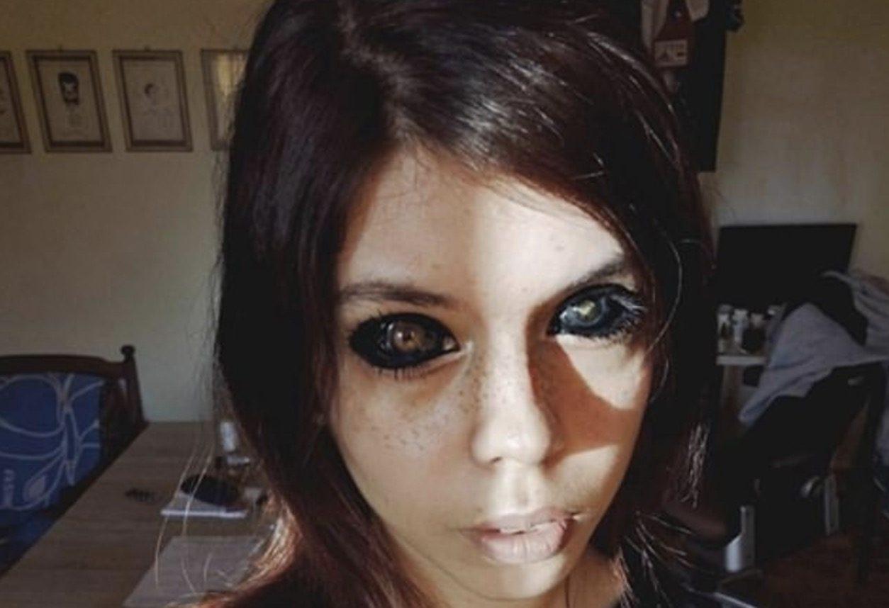 dipinge occhi nero