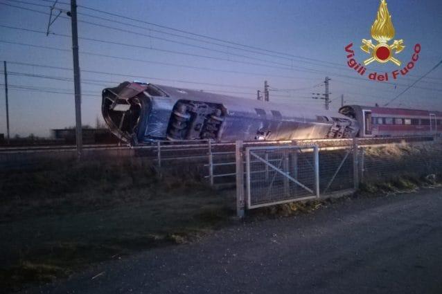treno frecciarossa deragliato a Lodi