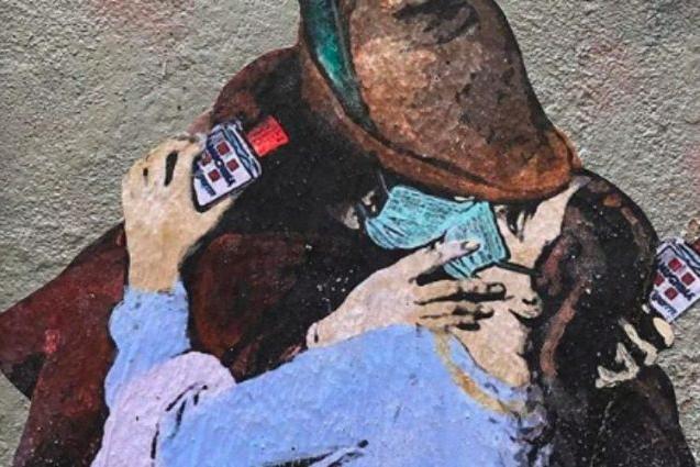 tvboy murales coronavirus