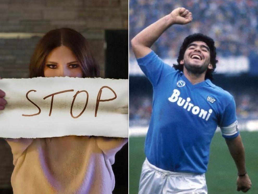 Laura Pausini sulla Morte di Maradona