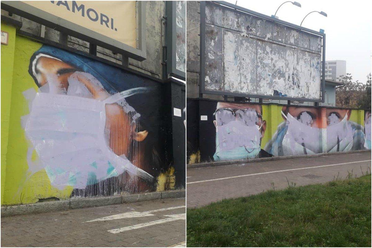 Cancellato il Murales per Medici e Infermieri