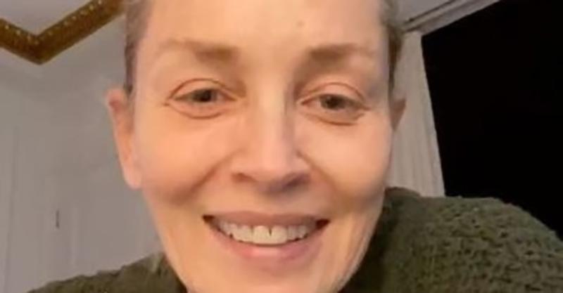 Sharon Stone si Mostra Senza Trucco
